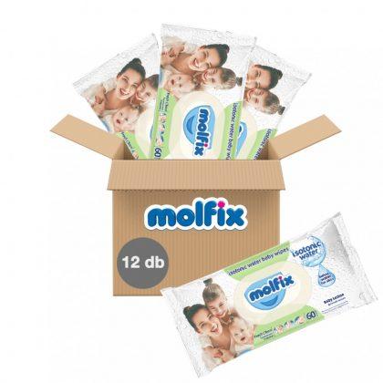 Molfix Fresh Clean izotóniás kupakos nedves törlőkendő 12x60 db