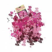 Kislányos rózsaszín konfetti babaszületésre - 14 gramm