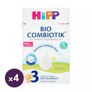 Hipp 3 BIO Combiotik tejalapú, anyatej-kiegésztő tápszer 10 hó+ (4x600 g)