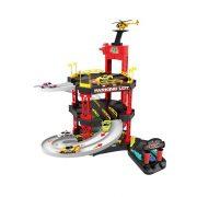 Multifunkciós autó parkoló lifttel, helikopterrel és kisautókkal (55 részes)