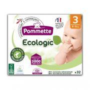 Pommette Ecologic 50%-ban lebomló öko pelenka, Midi 3, 4-9 kg, 32 db