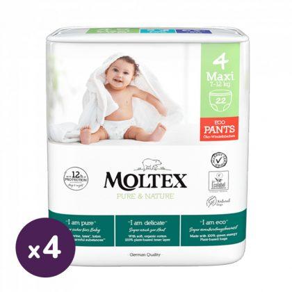MOLTEX Pure&Nature öko bugyipelenka, Maxi 4, 7-12 kg HAVI PELENKACSOMAG 88 db
