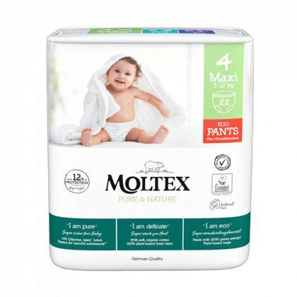 MOLTEX Pure&Nature öko bugyipelenka, Maxi 4, 7-12 kg, 22 db