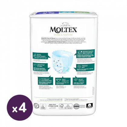 MOLTEX Pure&Nature öko bugyipelenka, XL 6, 14 kg+ HAVI PELENKACSOMAG 72 db