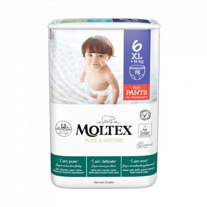 MOLTEX Pure&Nature öko bugyipelenka, XL 6, 14 kg+, 18 db