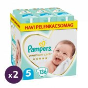 Pampers Premium Care pelenka, Junior 5, 11-16 kg, 1+1, 272 db