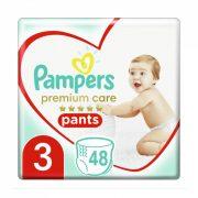 Pampers Premium Care Pants bugyipelenka, Midi 3, 6-11 kg, 48 db