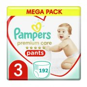 Pampers Premium Care Pants bugyipelenka, Midi 3, 6-11 kg HAVI PELENKACSOMAG 4x48 db