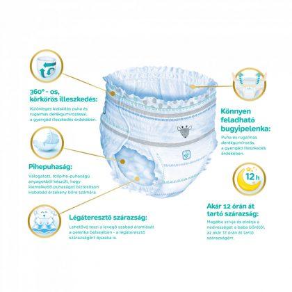 Pampers Premium Care Pants bugyipelenka, Junior 5, 12-17 kg, 2+1, 102 db