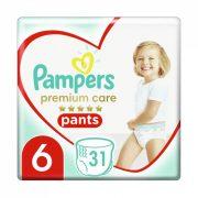 Pampers Premium Care Pants bugyipelenka Junior+ 6, 15 kg+, 31 db