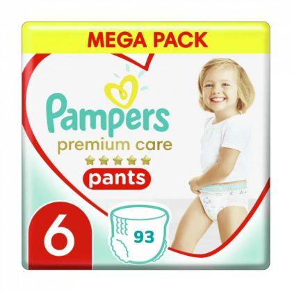 Pampers Premium Care Pants bugyipelenka, Junior+ 6, 15 kg+, 2+1, 93 db