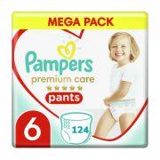 Pampers Premium Care Pants bugyipelenka, Junior+ 6, 15 kg+ HAVI PELENKACSOMAG 124 db