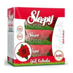 Sleepy Rózsa triopack, kupakos, 3x60 lapos