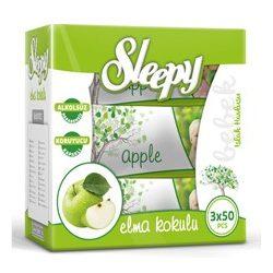Sleepy Zöldalma triopack, kupakos, 3x50 lapos