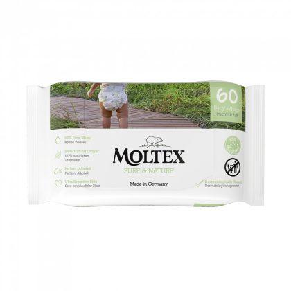 MOLTEX Pure&Nature öko lebomló nedves törlőkendő 60 db