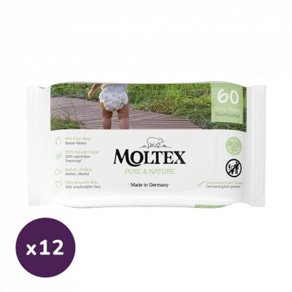 MOLTEX Pure&Nature öko lebomló nedves törlőkendő 12x60 db