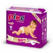 Pine Prémium pelenka, Maxi 4, 7-18 kg, 30 db