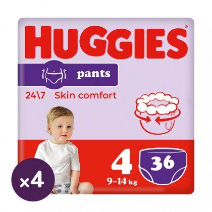Huggies Pants bugyipelenka, Maxi 4, 9-14 kg, HAVI PELENKACSOMAG 4x36 db
