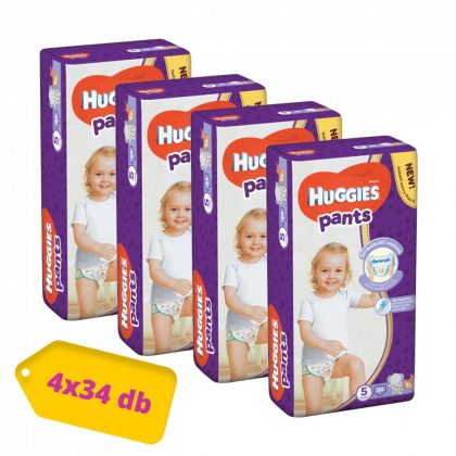 Huggies Pants bugyipelenka, Junior 5, 12-17 kg, HAVI PELENKACSOMAG 4x34 db