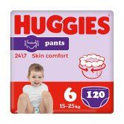 Huggies Pants bugyipelenka Junior+ 6+, 15-25 kg HAVI PELENKACSOMAG 4x30 db