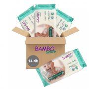 Bambo Nature lebomló öko nedves törlőkendő 14x50 db