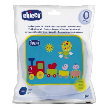 Chicco Vonatos autós napárnyékoló tárolótáskában (2 db)