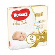 Huggies Elite Soft pelenka 2, 4-6 kg, 80 db