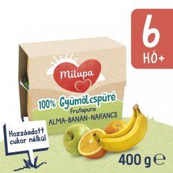 Milupa Frutapura alma-banán-narancs gyümölcspüré 6 hó+ 4 db (4x100 g)
