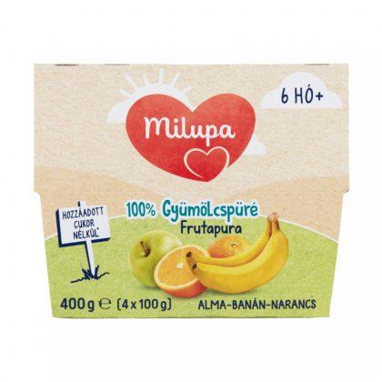 Milupa Frutapura alma-banán-narancs gyümölcspüré 6 hó+ (4x100 g)