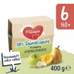 Milupa Frutapura Gyümölcsvarázs gyümölcspüré 6 hó+ 4 db (4x100 g)