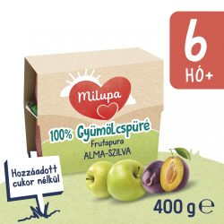 Milupa Frutapura alma-szilva gyümölcspüré 6 hó+ 4 db (4x100 g)