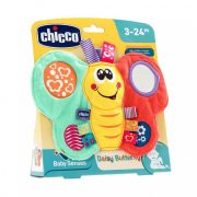 Chicco Daisy pillangó textil csörgő-rágóka tükörrel