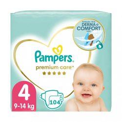 Pampers Premium Care Maxi 4, 8-14 kg HAVI PELENKACSOMAG 104 db