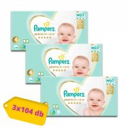 Pampers Premium Care Maxi 4, 9-14 kg 2+1 AKCIÓ 312 db