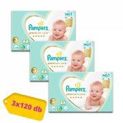 Pampers Premium Care Midi 3, 6-10 kg 2+1, 360 db