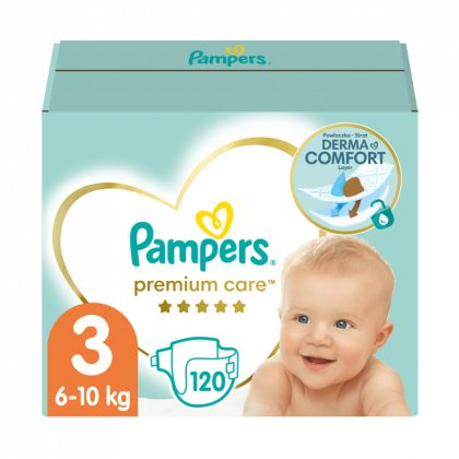 Pampers Premium Care pelenka, Midi 3, 6-10 kg, 120 db