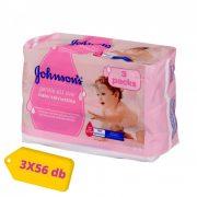 Johnson's Gentle All Over nedves törlőkendő 3x56 db
