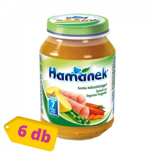 MEGSZŰNT - Hamánek bébiétel sonka bébizöldséggel, 7 hó+ (6x190 g)