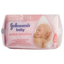 Johnson's Baby sensitive törlőkendő duopack, 2x56 lapos