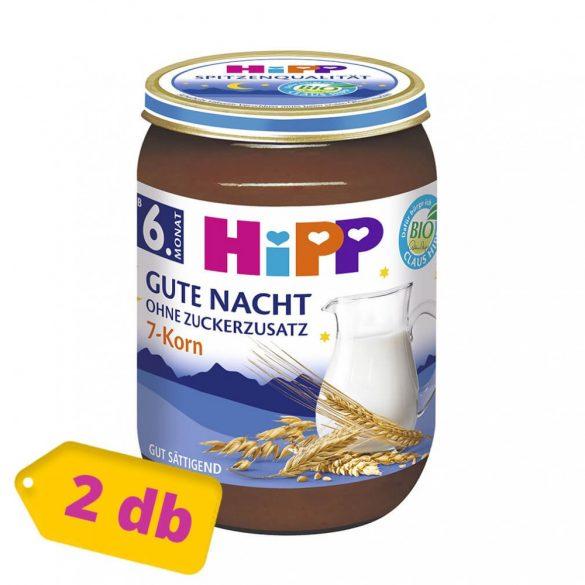 Hipp BIO jó éjt papi tejbegríz 7 féle gabonával, 6 hó+ (2x190 g)