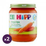 Hipp BIO sárgarépa főzelék, 4 hó+ (2x125 g)
