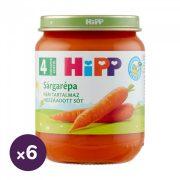 Hipp BIO sárgarépa főzelék, 4 hó+ (6x125 g)