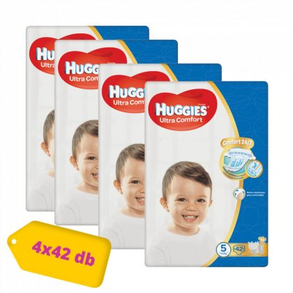 Huggies Ultra Comfort nadrágpelenka Junior 5, 12-22 kg HAVI PELENKACSOMAG 4x42 db