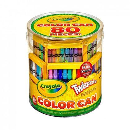 Crayola: csavarozható rajzolókészlet - 80 darabos