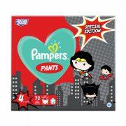 Pampers Pants szuperhősös bugyipelenka, Maxi 4, 9-15 kg, 72 db