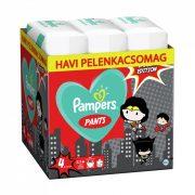 Pampers Pants szuperhősös bugyipelenka, Maxi 4, 9-15 kg HAVI PELENKACSOMAG 216 db