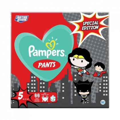 Pampers Pants szuperhősös bugyipelenka, Junior 5, 12-17 kg, 66 db