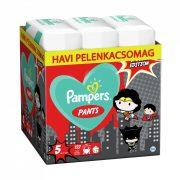 Pampers Pants szuperhősös bugyipelenka, Junior 5, 12-17 kg, HAVI PELENKACSOMAG 132 db