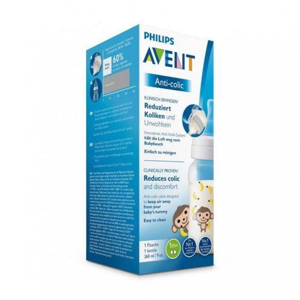 Avent SCF821/11 Anti-colic cumisüveg 260 ml (majom)