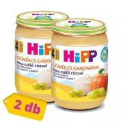 Hipp BIO alma-szőlő rizzsel, 4 hó+ (2x190 g)